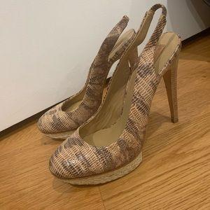 BCBGMaxazria like new heels size 9B.